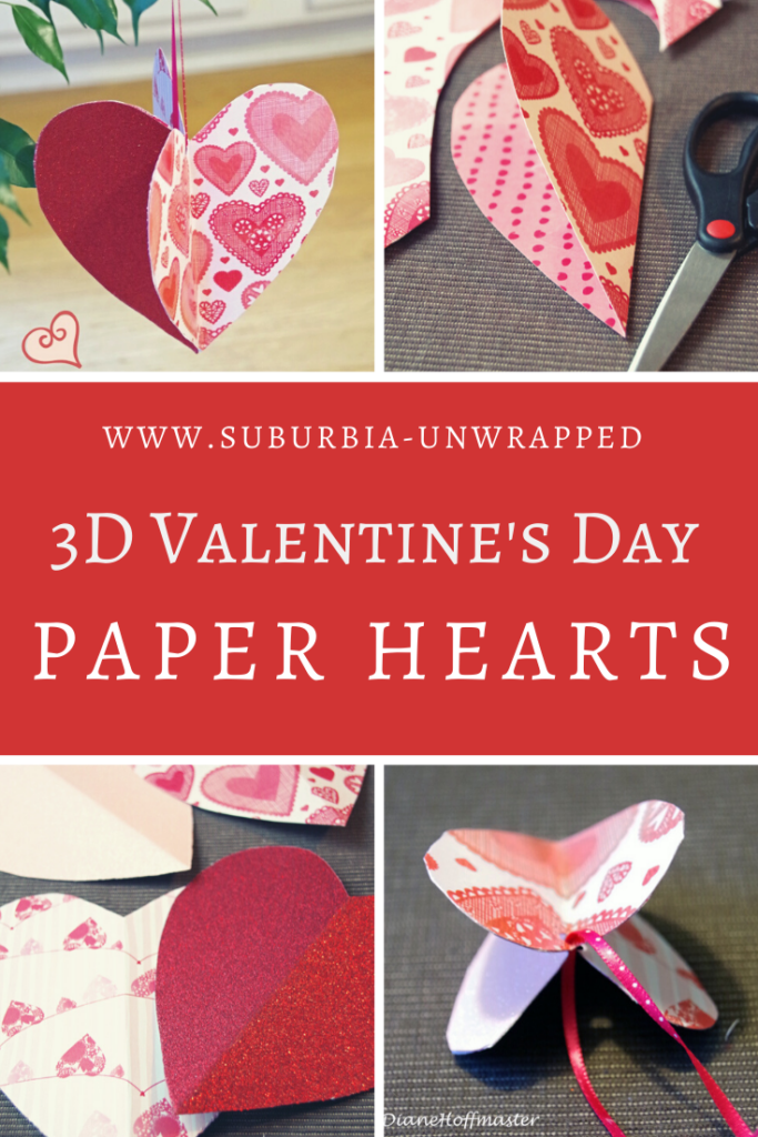 3D Valentine's Day Paper Heart Craft