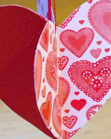 Valentine's Day Paper Heart Craft Idea