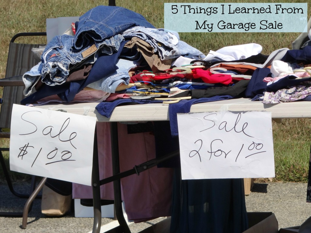 5 things I learned from my garage sale