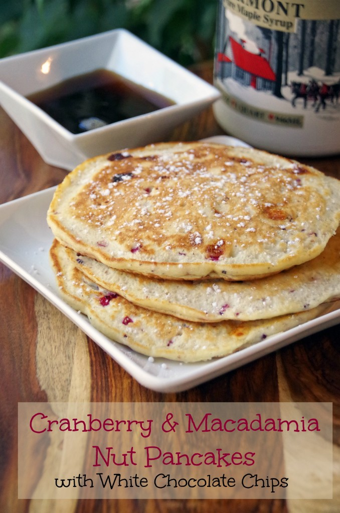 Cranberry and Macadamia Nut Pancake Recipe with White Chocolate Chips 2