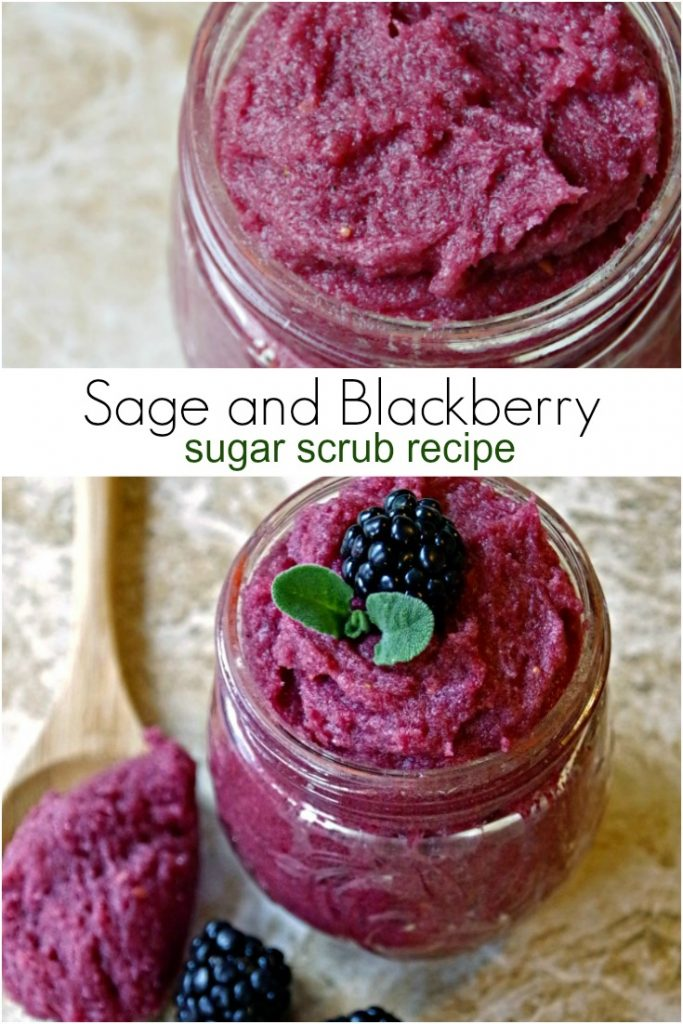 Easy Sugar Scrub Recipe with Sage and Blackberries