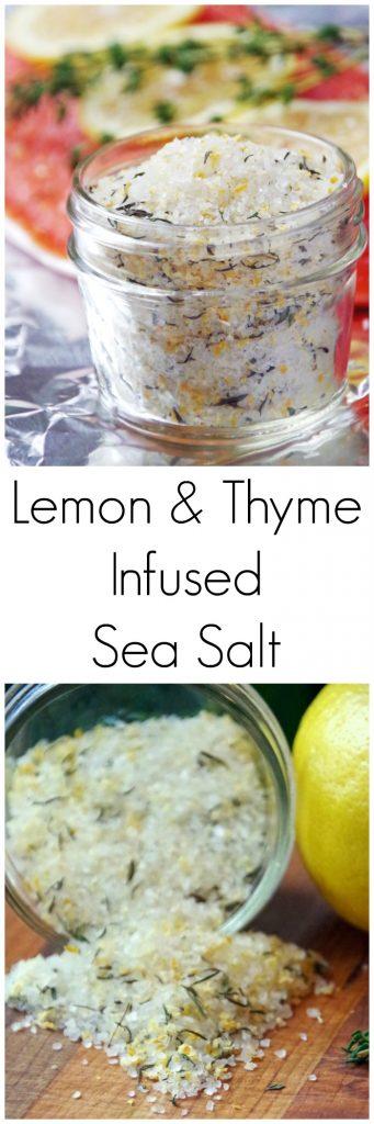 Lemon and Thyme Infused Sea Salt