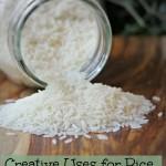 Uses for Rice Besides Eating it For Dinner!
