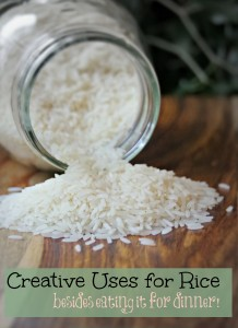 Creative Uses for Rice Besides Eating it For Dinner!