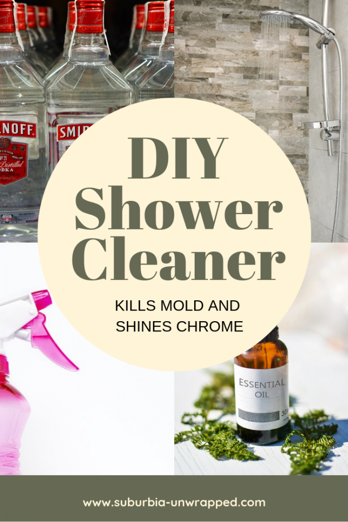 Easy DIY Shower Cleaner to Kill Mold and Shine Chrome