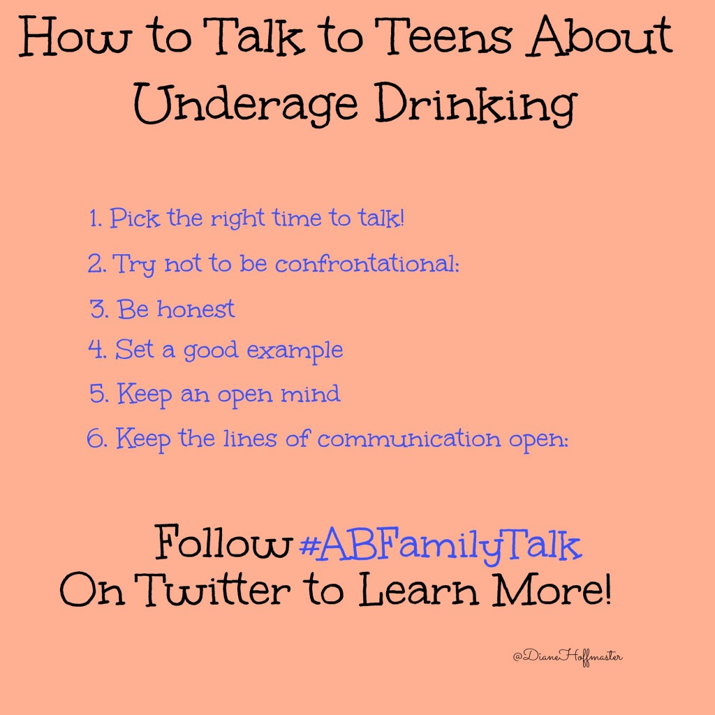 How to Talk to Teens about Underage Drinking