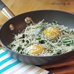 Italian Baked Spinach and Egg Recipe with Parmesan Cheese