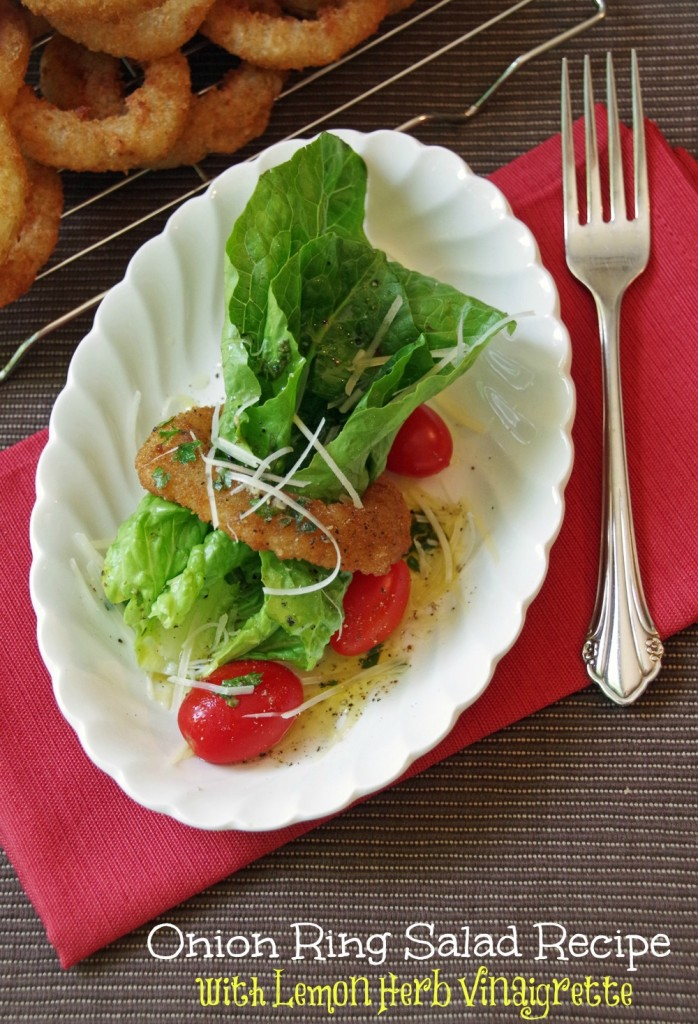 Onion Ring Salad Recipe andwith Lemon-Herb Vinaigrette #SpringIntoFlavor #CollectiveBias 3