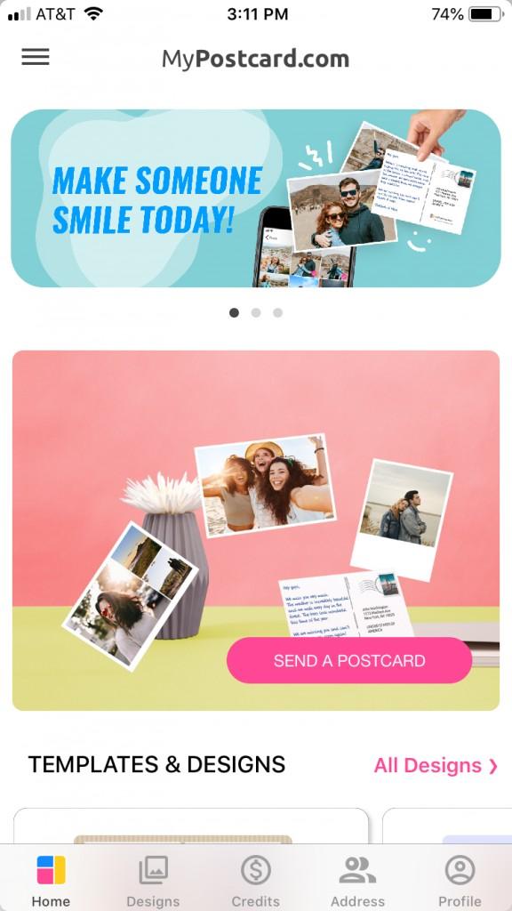 mypostcard postcard photo app