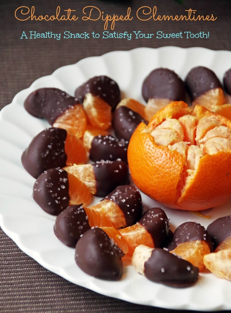 Chocolate Dipped Clementines Healthy Snack Recipe