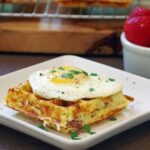 Sausage and Cheddar Corn Waffle Recipe
