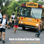 Back to School Survival Tips for Busy Moms