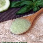 Cucumber Basil Sugar Scrub Recipe for Dry Skin