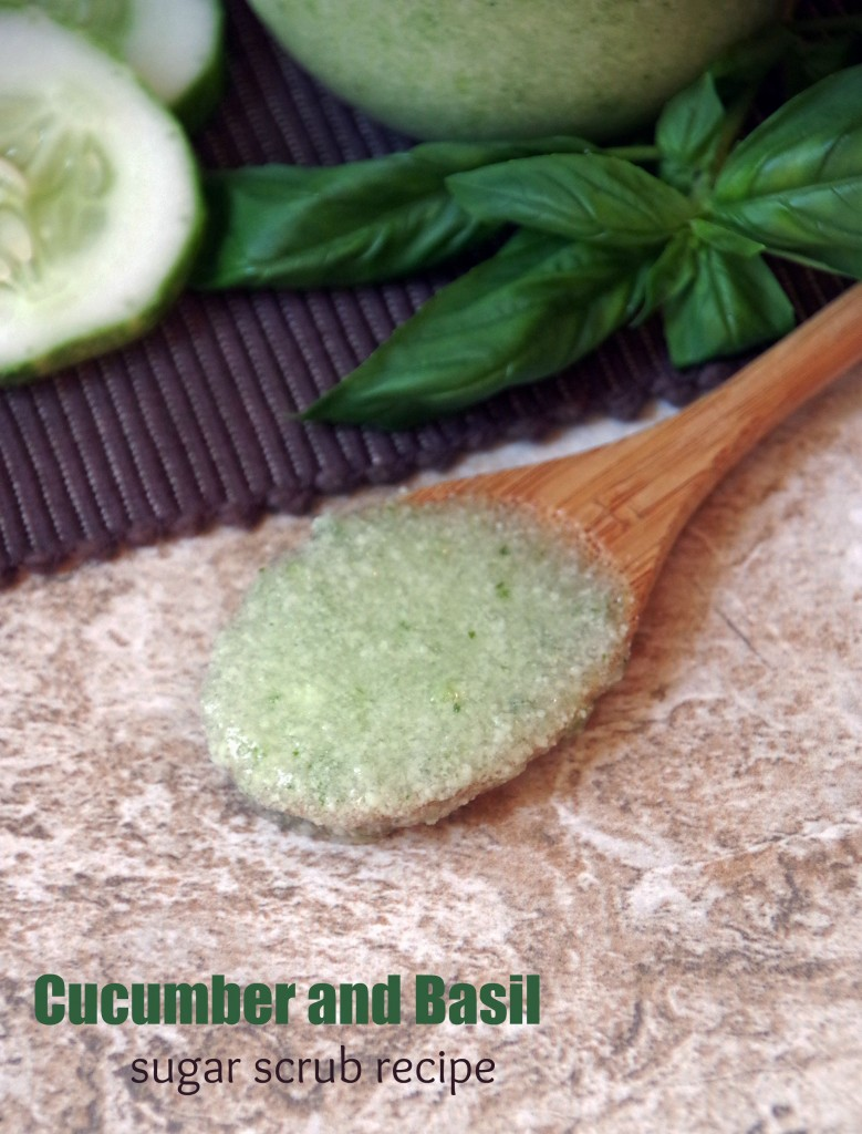 Cucumber Basil Sugar Scrub Recipe for Dry Skin