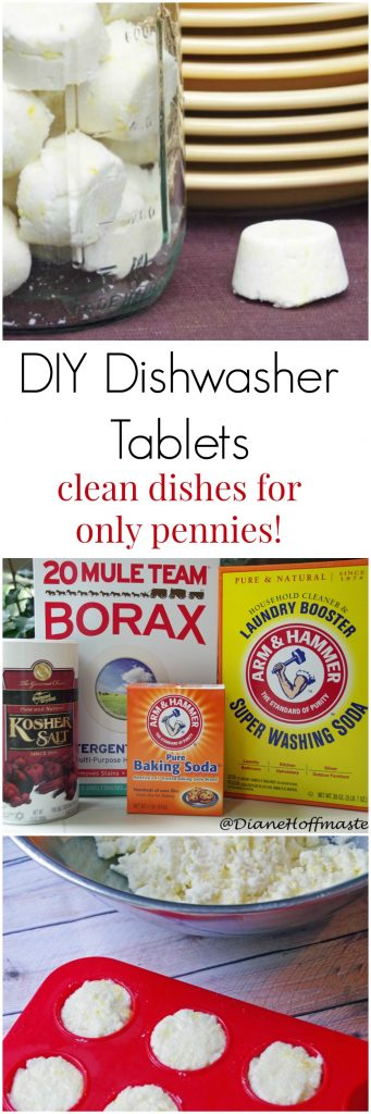 DIY Dishwasher Tablets Give You Clean Dishes for Only Pennies!