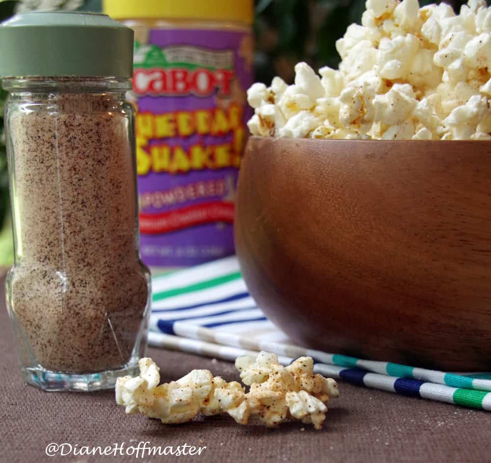 Nacho Cheese Popcorn Seasoning Recipe makes a healthy snack!