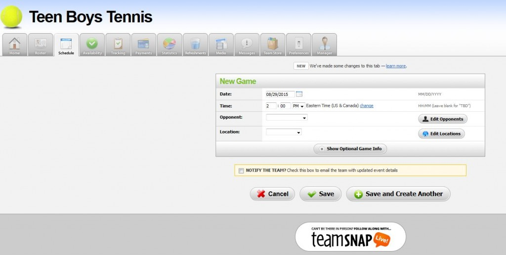 TeamSnap for Managing kids sports leagues