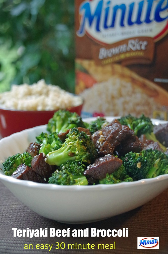 30 minute meals solution Teriyaki Beef and Broccoli with Brown Rice