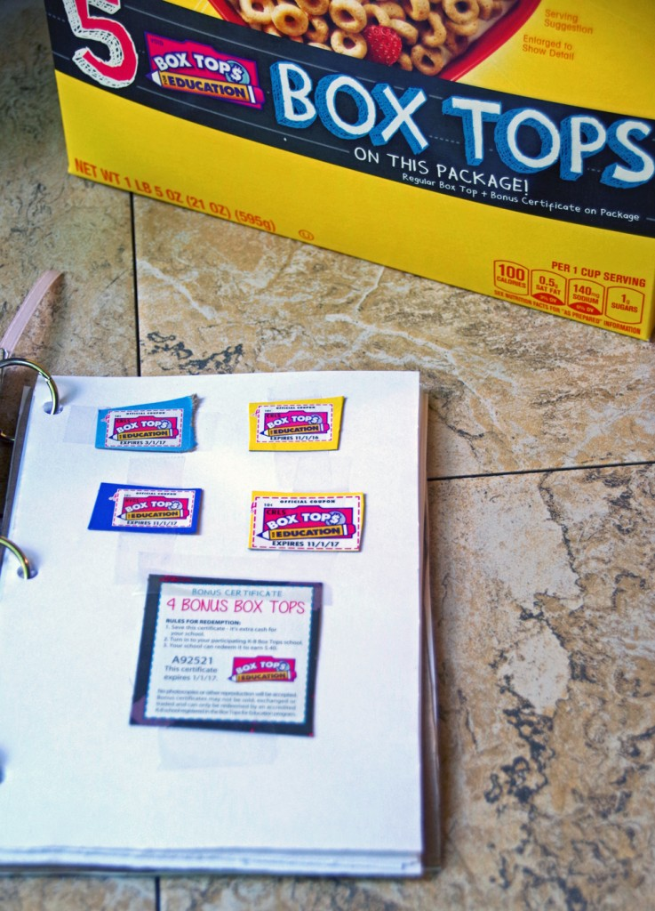 Collecting Box Tops for Education