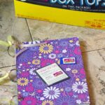 Easy Upcycled Scrapbook Makes Box Top Collecting Easy!
