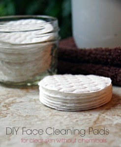 Easy DIY Face Cleaning Pads for Oily Skin