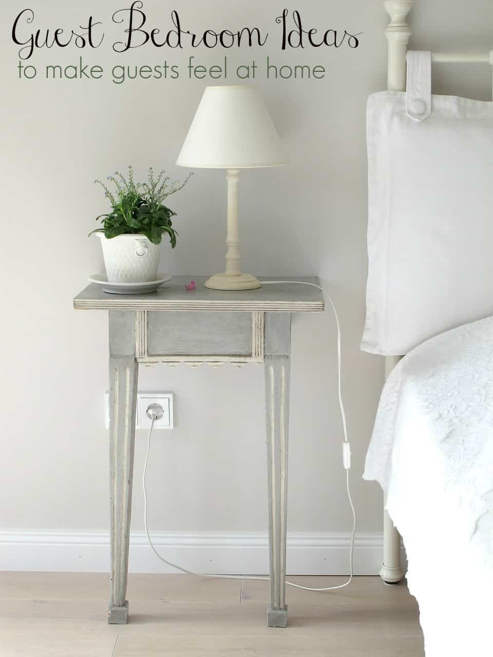 Having company?  Check out these guest bedroom ideas to help your guests feel right at home!