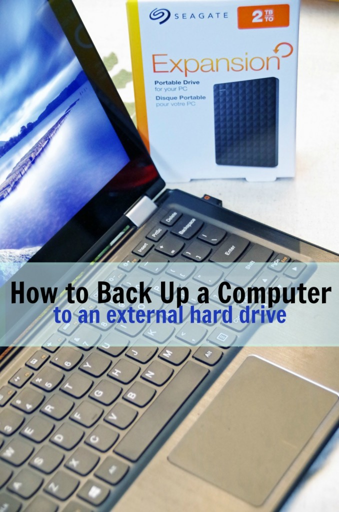 How to back up a computer to an external hard drive 2