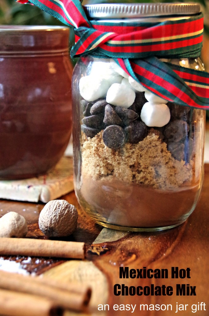 Mexican Hot Chocolate Mix in a Mason Jar