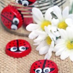 How to Make Bottle Cap Magnet Lady Bugs