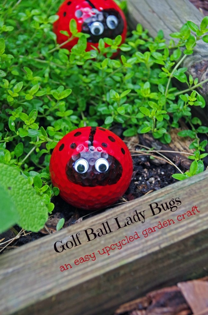 Gold Ball Lady Bug Craft