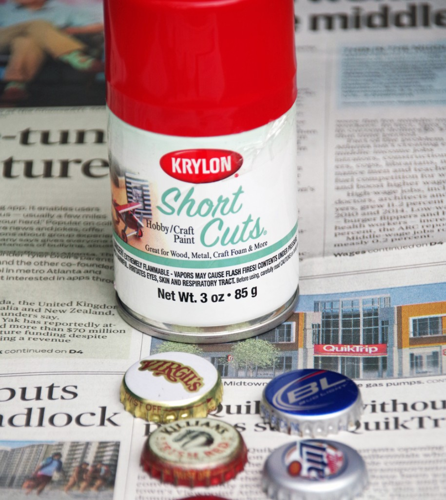 Make Bottle Cap Magnet Lady Bugs