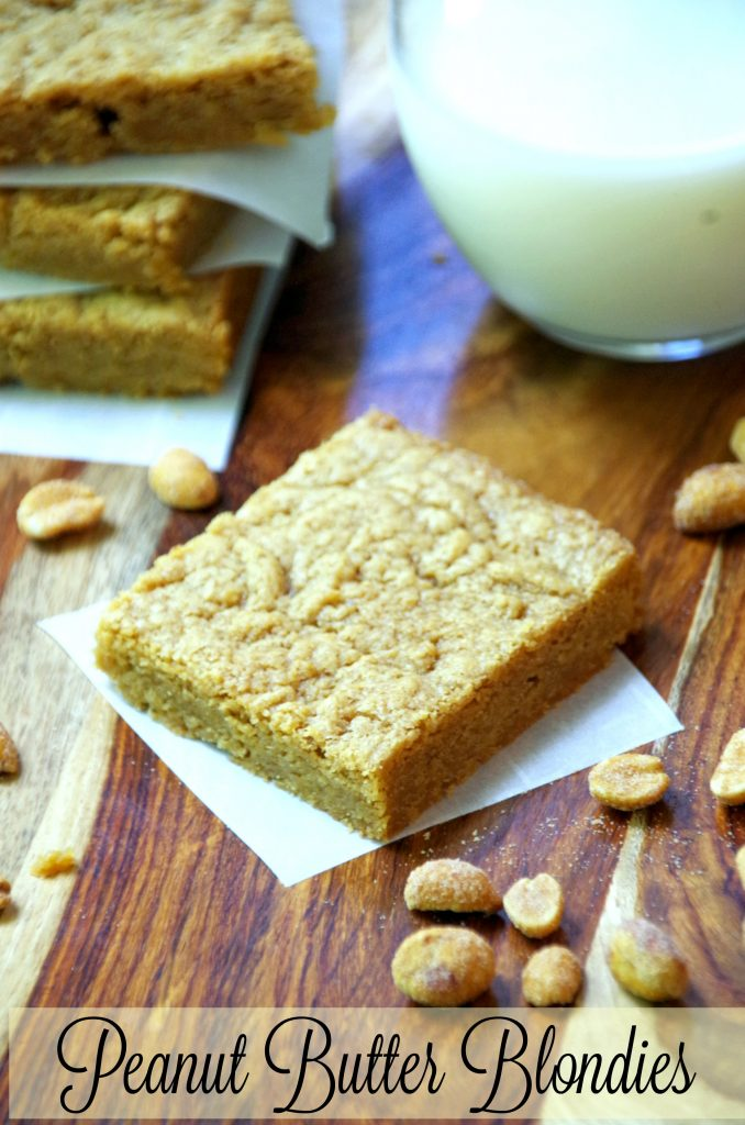 This Peanut Butter Blondies Recipe is a quick and easy dessert recipe for anyone who loves peanut butter!