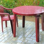 clean plastic patio furniture
