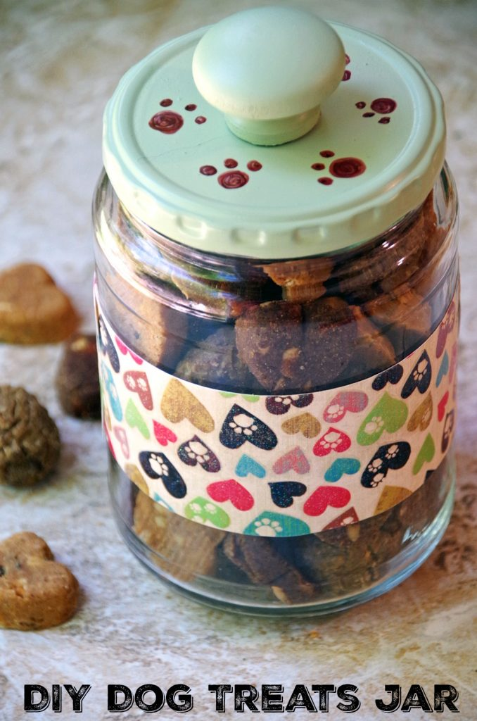 Easy DIY Dog Treats Jar Craft