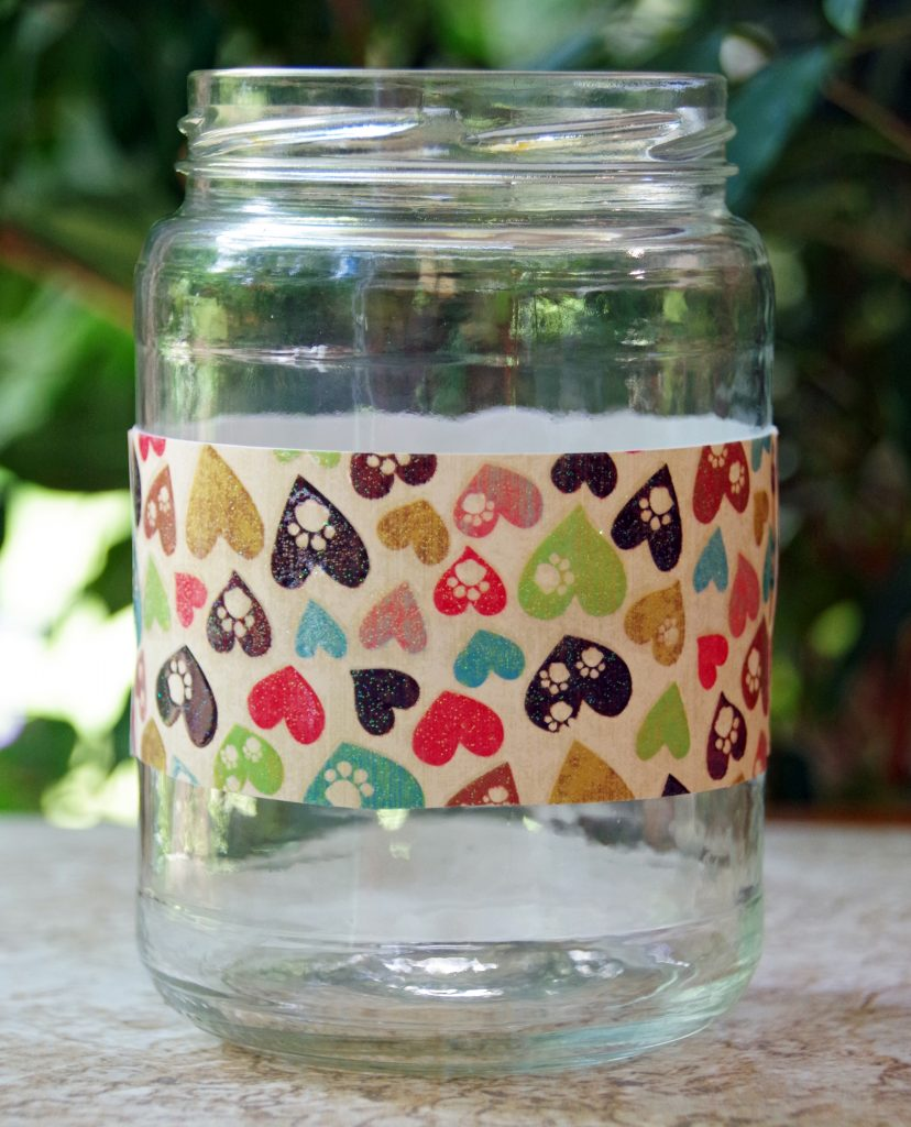 Easy Upcycled Dog Treats Jar