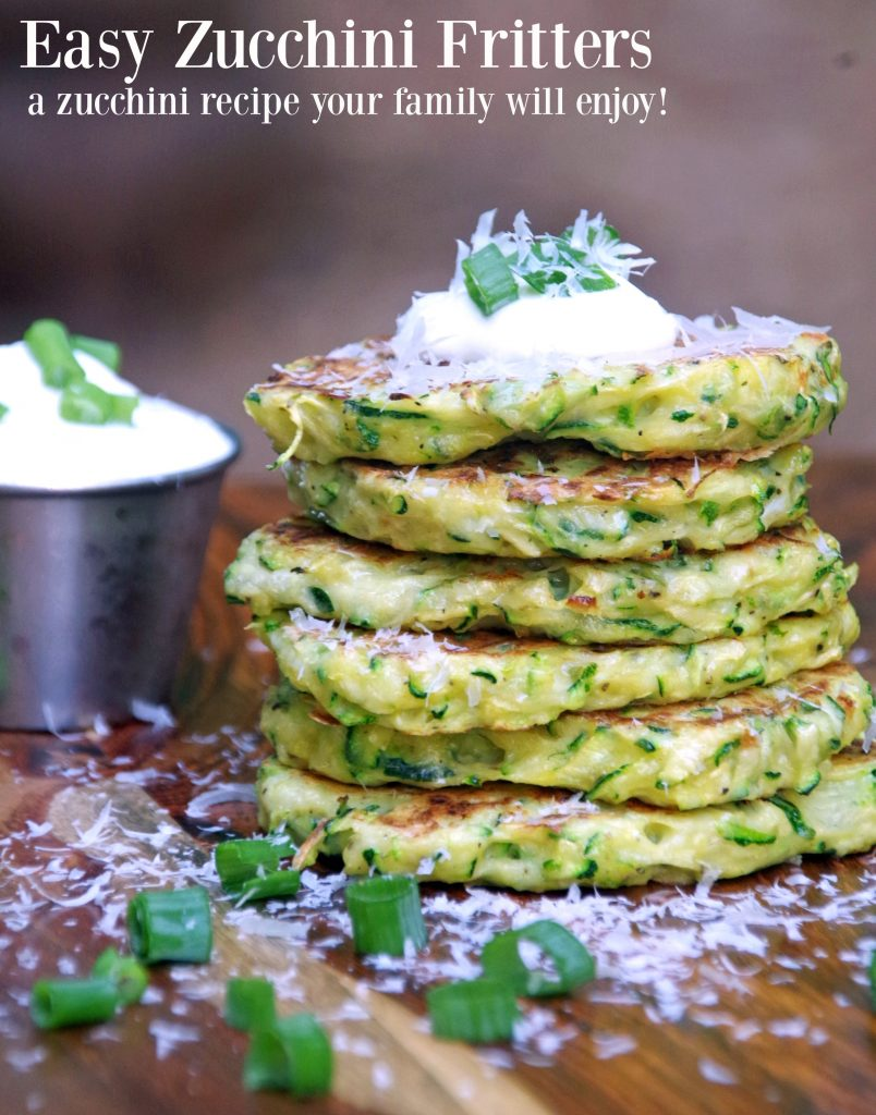 Easy Zucchini Fritters Recipe. If you are looking for zucchini recipes, this is one the family will love!