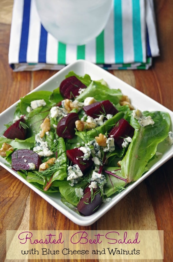 How to Roast Beets and a Roasted Beet Salad Recipe