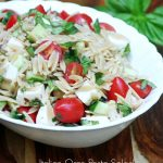 Italian Orzo Pasta Salad Recipe with Fresh Basil