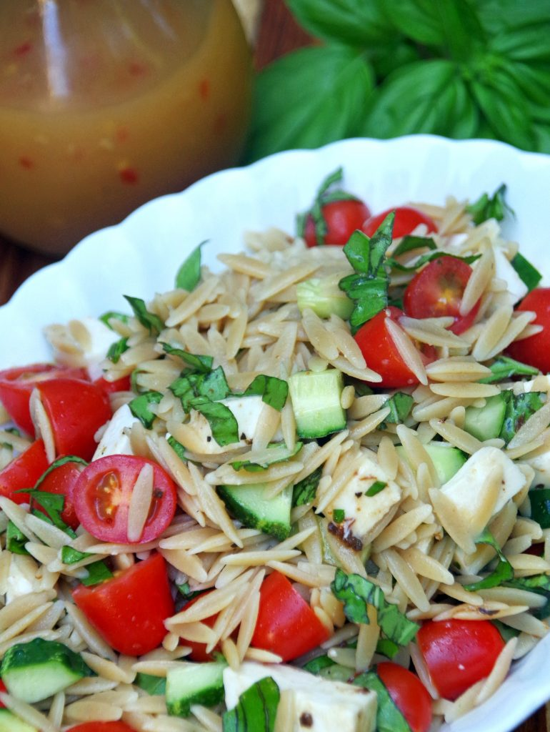 Easy orzo pasta salad recipe