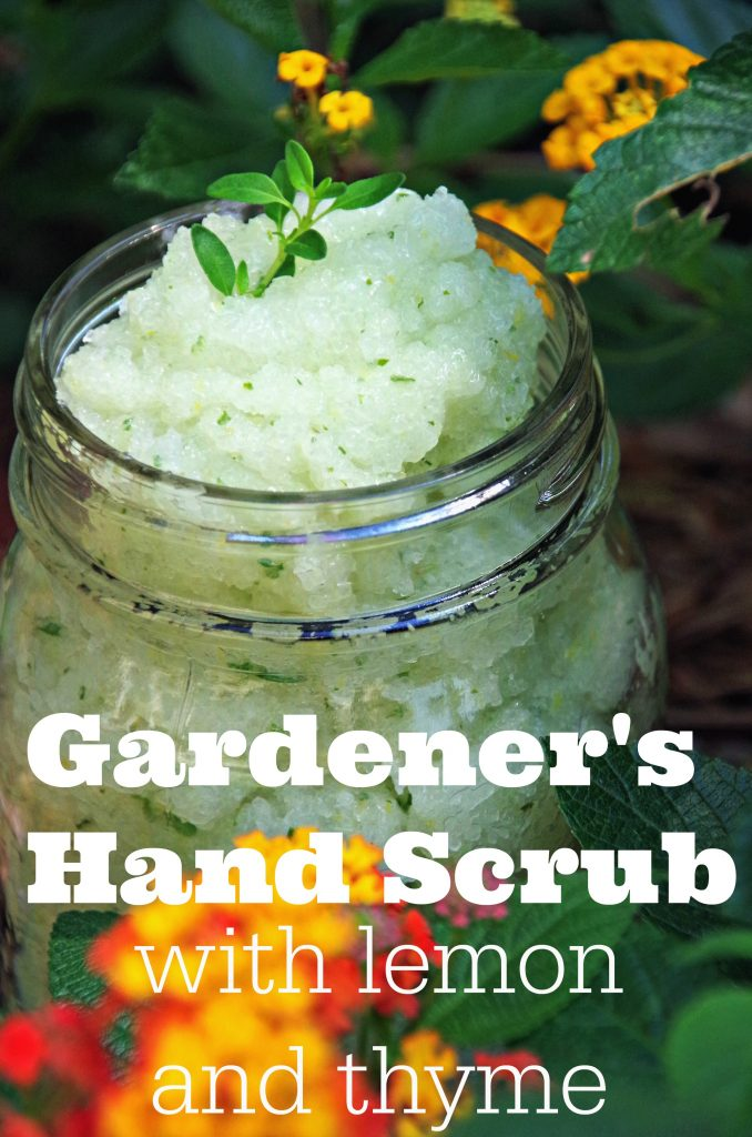 Lemon and Thyme Gardener Hand Scrub Recipe
