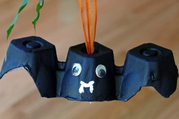 Easy Bat Craft Project for Kids Makes Upcycling Fun!