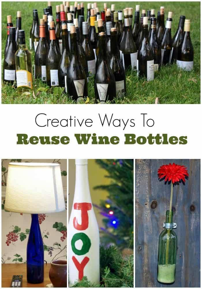 Creative Ways to Resuse Wine Bottles