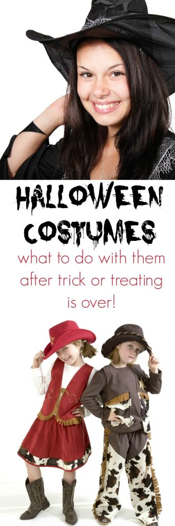 What to do with Halloween Costumes once the Trick or Treating is over.