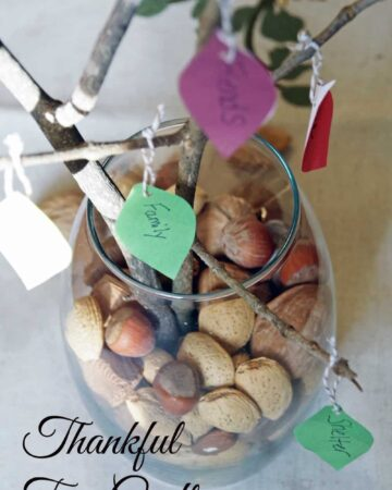 Learn how to make this Thankful tree craft for a simple and frugal Thanksgiving craft idea