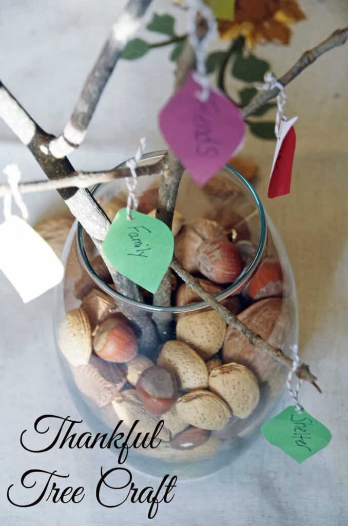 Easy Thankful Tree Craft