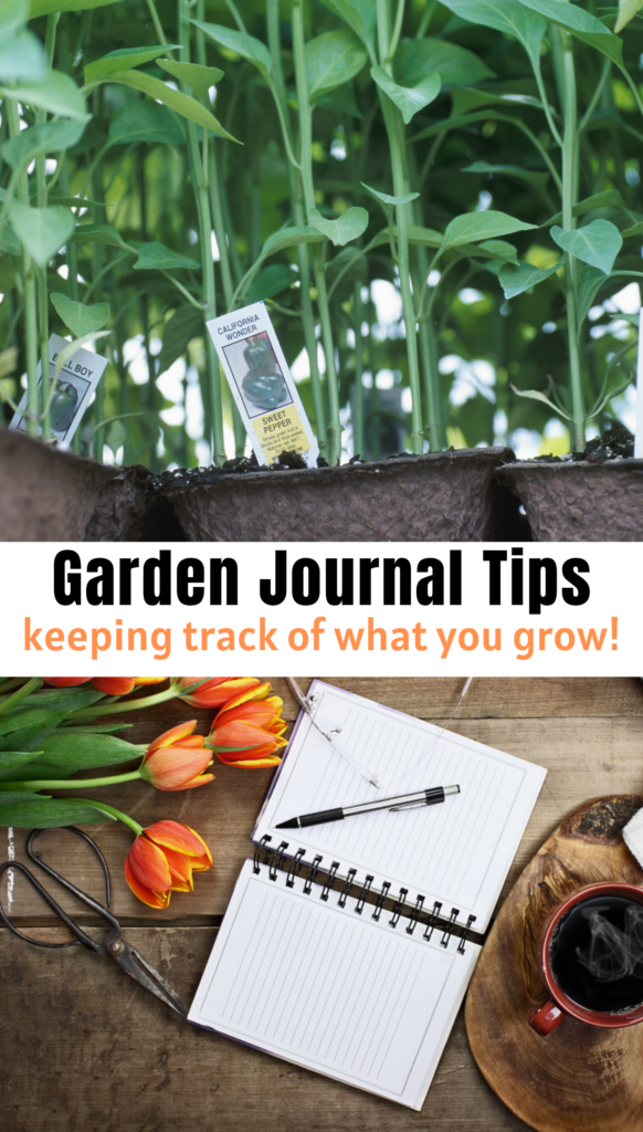 Garden Journal Tips and keeping track of what you grow!