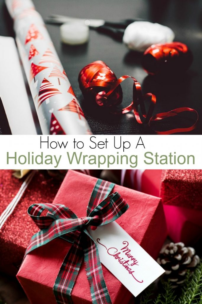Holiday Wrapping Station Ideas for Staying Organized