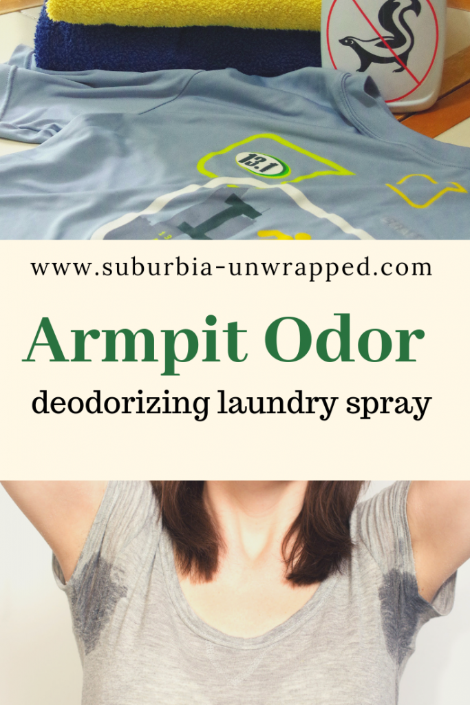 Armpit Odor deodorizing laundry spray