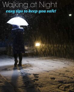 Exercising at night can be a bit challenging. Don't miss these easy safety tips for walking at night!
