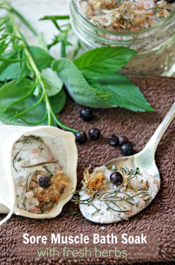 Sore Muscle Bath Soak with Fresh Herbs is the Perfect Sore Muscle Relief!